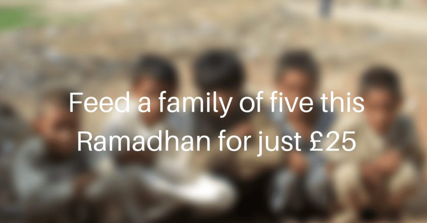 Feed a family of five this Ramadan for just £25