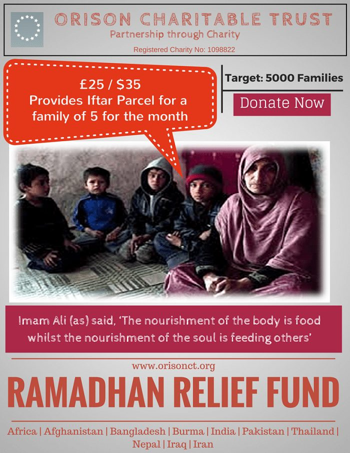 ramadhan relief feed a family of 5 for a month iftar charity