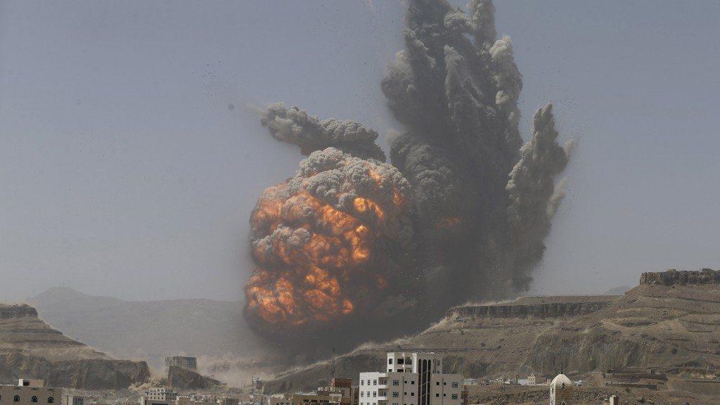 Saudi airstrike explosion in Yemen