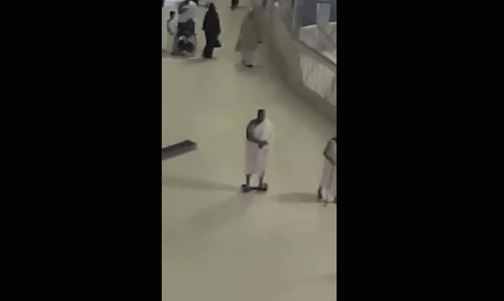 A video of a man doing tawaf on a segway has gone viral!