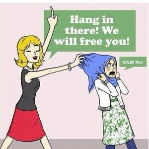 hang in there we will free you Muslim feminism feminist islam women