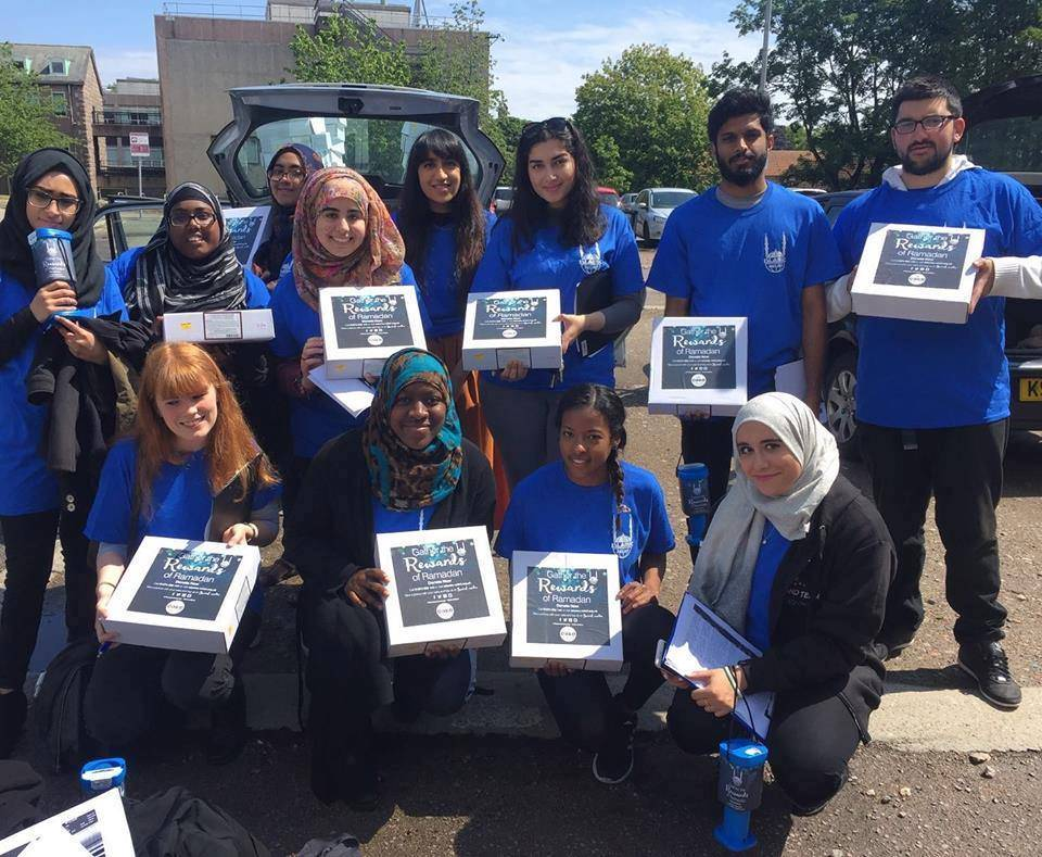 Volunteers from the North East Islamic Relief team as they set to deliver cakes during Ramadan.