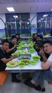 Iftar at the Fudan University canteen.