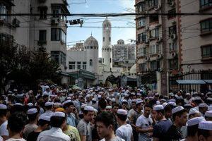 Eid prayers in central Shanghai