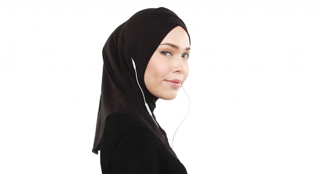 Singapore designer invents the first earphone-friendly hijab