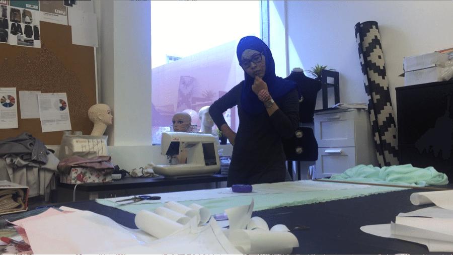 Adlina in her design studio.