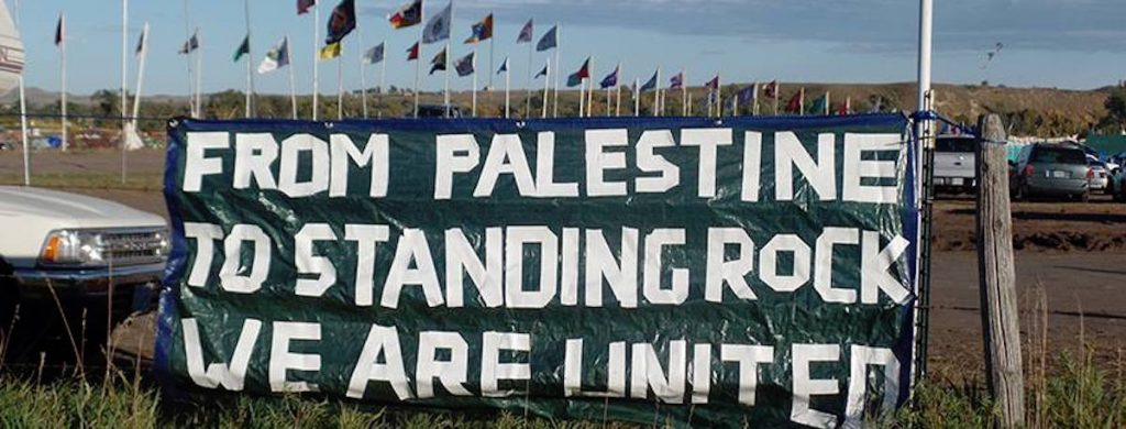 Palestinians join Standing Rock Sioux to protest Dakota Access Pipeline