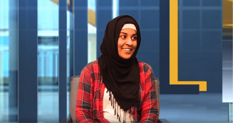 Amira Haque, a midwifery student, was crowned Young Person of the Year for Cambridgeshire in 2015 (Photo credit: LB24TV)
