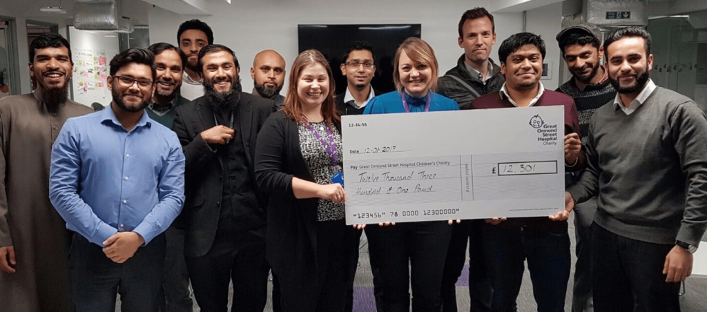 'Race for Charity' completes their fundraiser for the Great Ormond Street Hospital charity