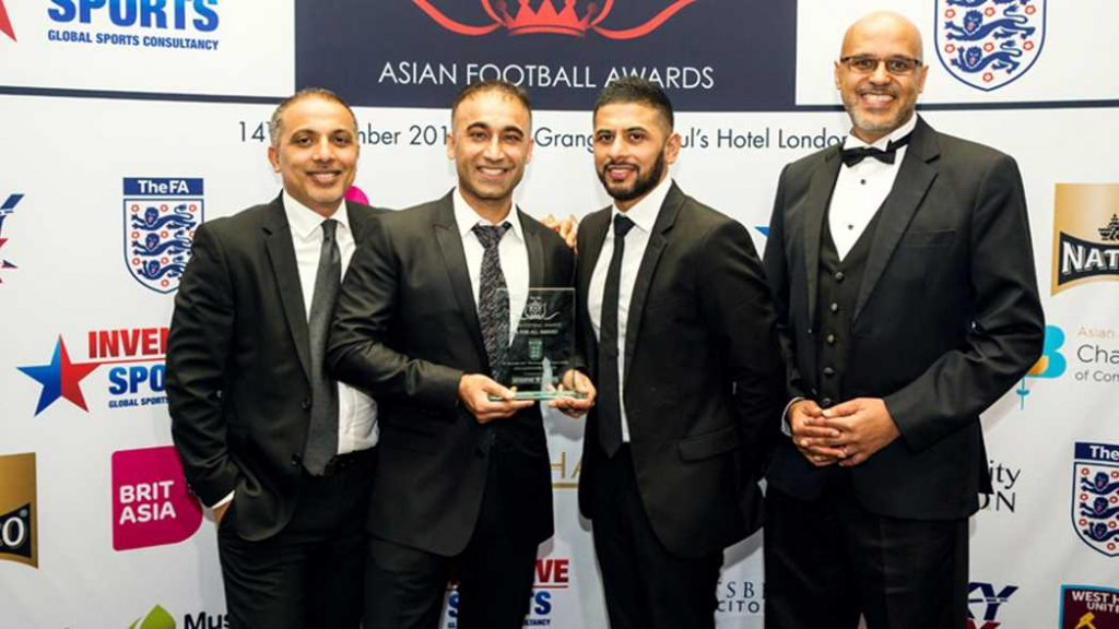 "Stanmore Jafferys Football Academy wins ""The FA For All"" award at the Asian Football Awards"