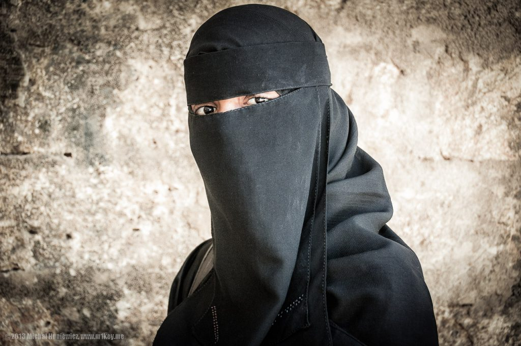 Is the niqabi woman honoured or oppressed?