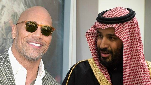 Tequila on The Rock, as Mohammed bin Salman Parties in Hollywood